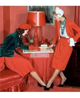 玛丽莲·安布罗斯演绎的灯芯绒时尚造型