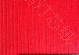 8条全棉无弹灯芯绒面料艳红色/8W64*128