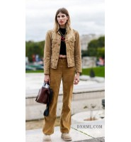 土黄色不土,灯芯绒夹克CP灯芯绒休闲裤,舒适又时尚