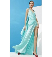 Ester Abner 2020春夏时尚,纯净的水晶蓝通透明亮