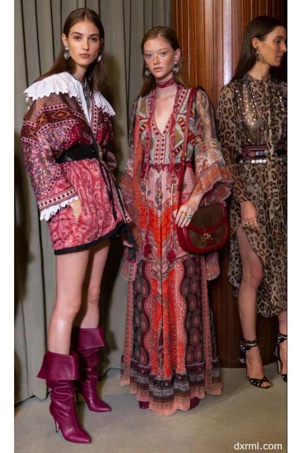 女装印花图案流行趋势,波西米亚风,营造随性感