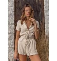 时尚圈复古元素盛行:亚麻短裤-2