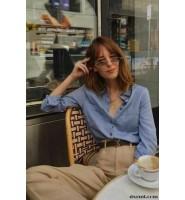 时尚圈复古元素盛行:亚麻衬衫