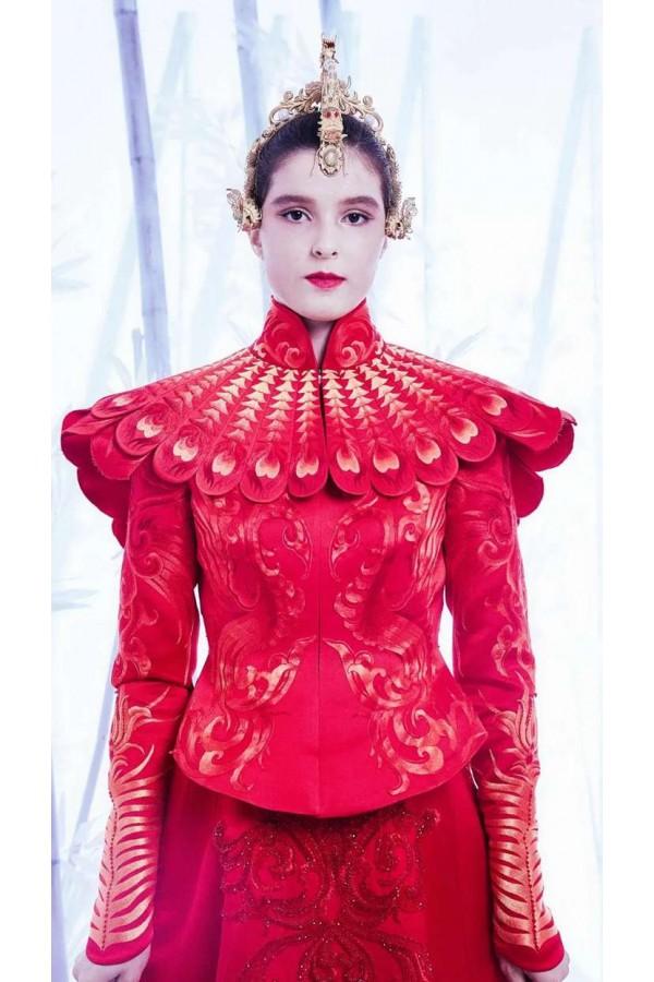 中国传统服饰之美!最美中国红云肩设计秀场