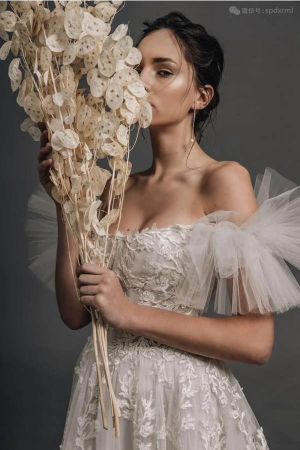 黎巴嫩海浪高级定制礼服,温柔恬雅少女美的雅致