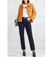 灯芯绒衣服的穿搭推荐:灯芯绒夹克+牛仔裤