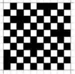 平纹组织按5/2纬面缎纹组织增加组织点后的绉组织图