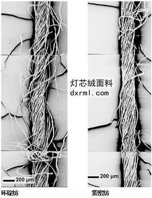 紧密纺与环锭纺的区别