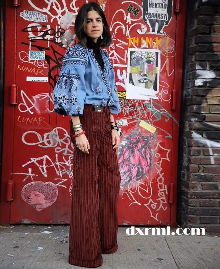 时髦星球的灯芯绒单品:灯芯绒阔腿裤