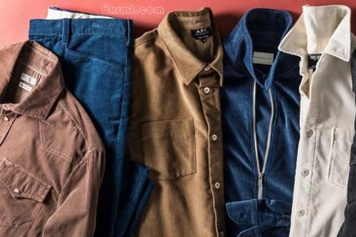 灯芯绒夹克和灯芯绒衬衫