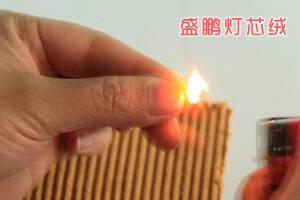 涤纶碰触火焰