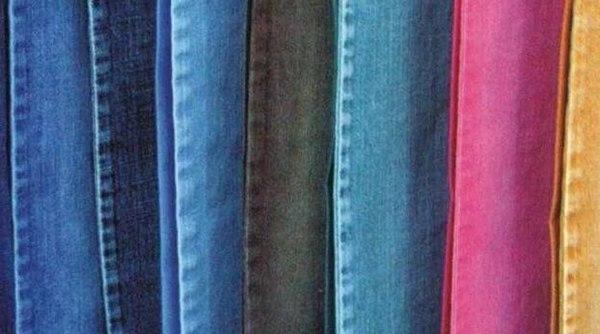 彩色牛仔布