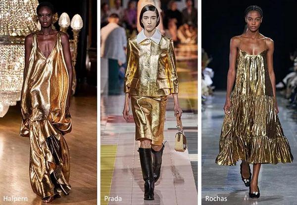 巴黎世家(Balenciaga)金色礼服