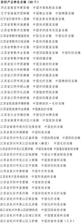 中国纺织产业链