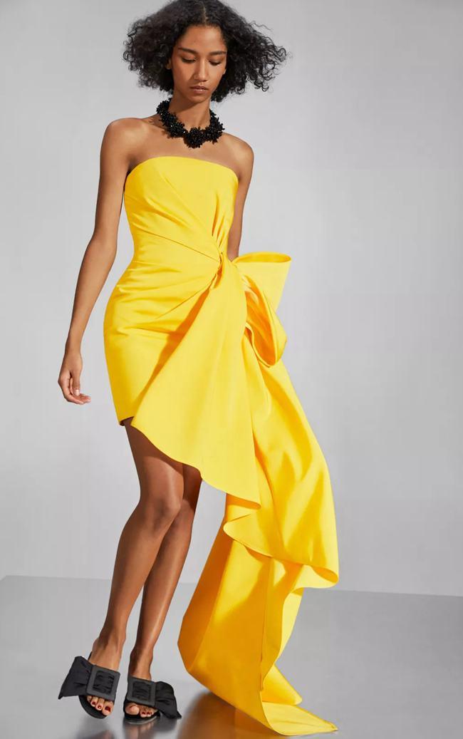 2020时尚色彩,Carolina Herrera活力四射的明亮柠檬黄