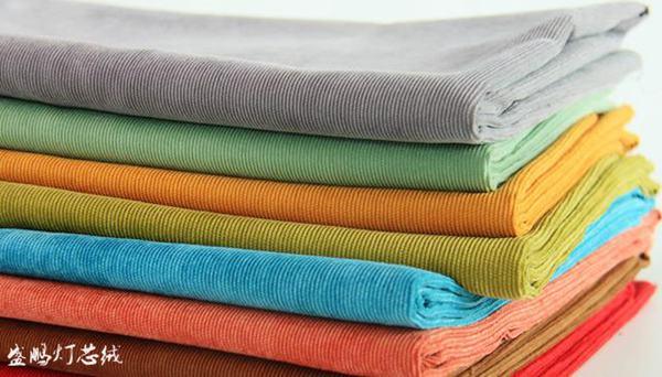 16条灯芯绒,色彩艳丽,条绒清晰
