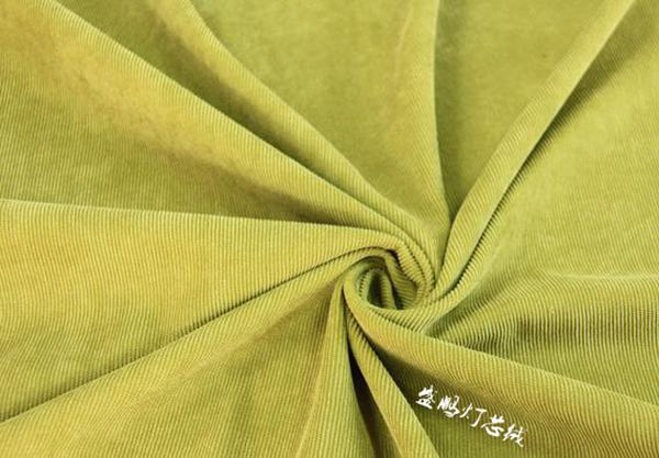 嫩绿16w坑灯芯绒