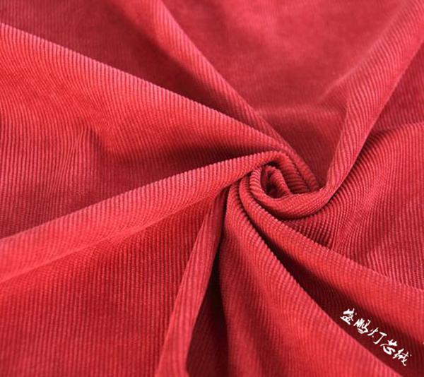 大红色16w坑灯芯绒